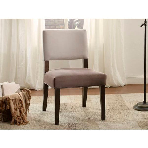 Homelegance Jacinta Accent Chair, K/D In Grey Fabric