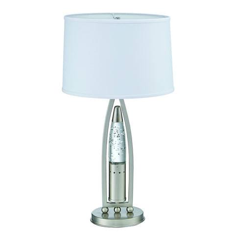 Homelegance Jair Table Lamp in Glass & Satin Nickel Metal