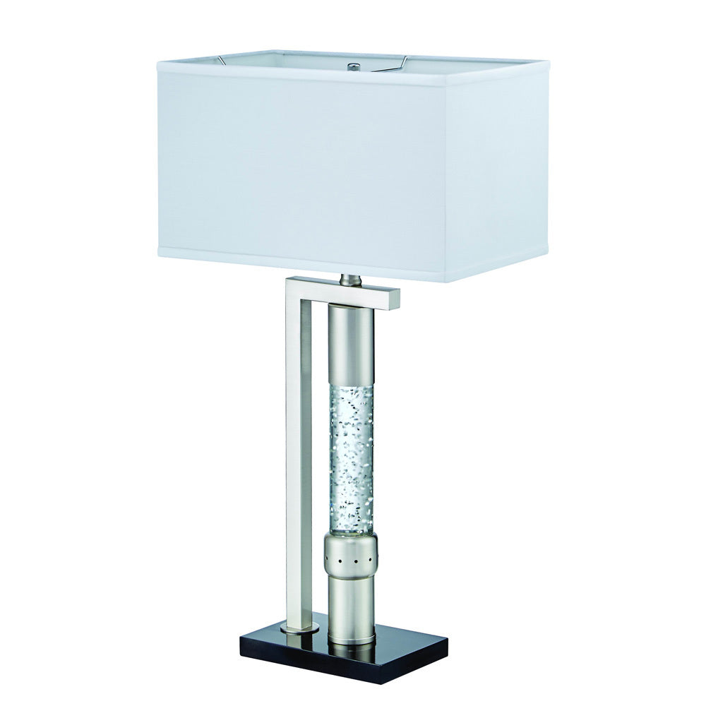 Excellent Homelegance Jalen Table Lamp In Glass Satin Nickel Metal Pabps2019 Chair Design Images Pabps2019Com