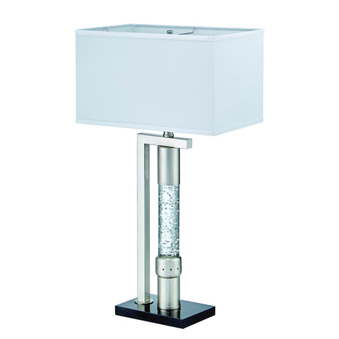 Homelegance Jalen Table Lamp in Glass & Satin Nickel Metal