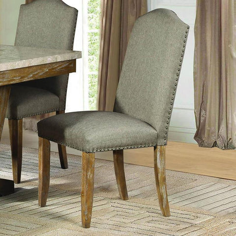 Homelegance Jemez Side Chair in Brown Fabric