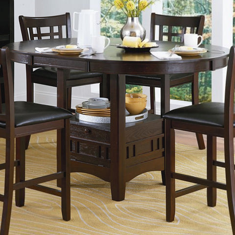 Homelegance Junipero Extension Counter Height Table w/ Storage Base