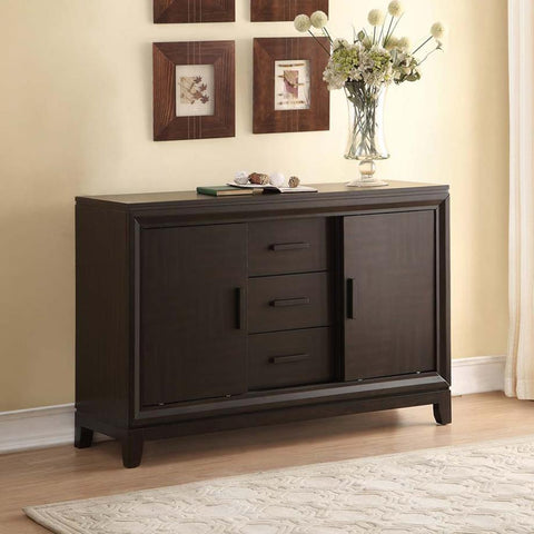 Homelegance Kavanaugh 3 Drawer Server in Dark Brown