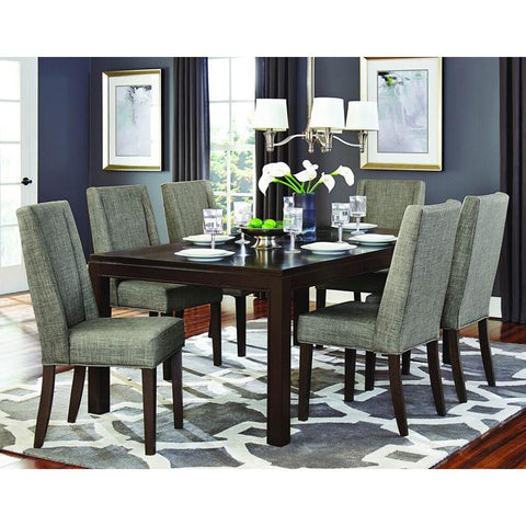 Homelegance Kavanaugh 7 Piece Rectangular Dining Room Set in Dark Brown