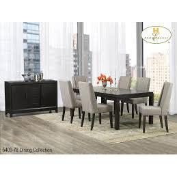 Homelegance Kavanaugh 8 Piece Rectangular Dining Room Set in Dark Brown