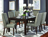 Homelegance Kavanaugh Rectangular Dining Table in Grey Fabric
