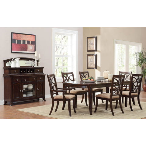 Homelegance Keegan 8 Piece Dining Room Set in Brown Cherry