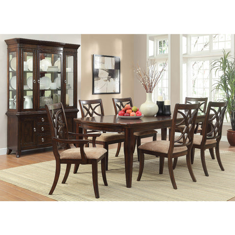 Homelegance Keegan 8 Piece Dining Room Set w/ Buffet in Brown Cherry