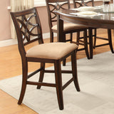 Homelegance Keegan Counter Height Chair in Rich Brown Cherry