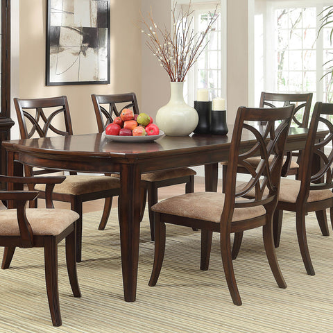 Homelegance Keegan Extension Dining Table in Brown Cherry