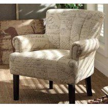 Homelegance Langdale Upholstered Accent Chair in French Note Fabric