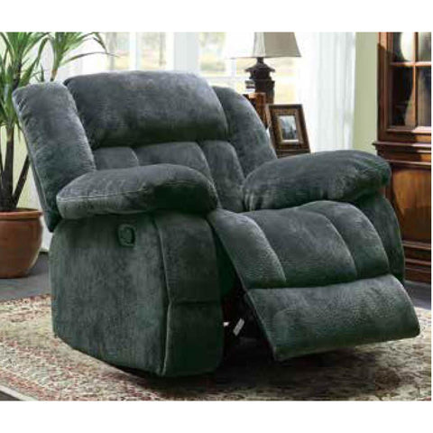 Homelegance Laurelton Glider Reclining Chair in Charcoal Microfiber