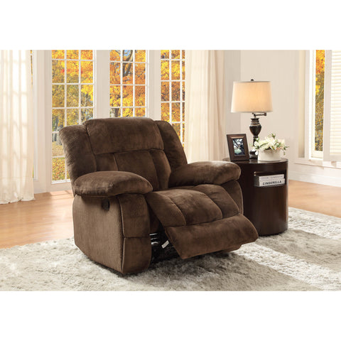 Homelegance Laurelton Glider Reclining Chair in Chocolate Microfiber
