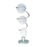 Homelegance Lenci Table Lamp in Glass & Satin Nickel Metal