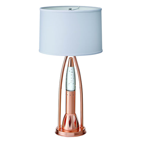 Homelegance Lenora Table Lamp in Glass & Copper Chromium Metal