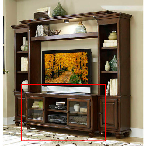 "Homelegance Lenore TV Stand, 58""W, Set-Up In Rich Cherry"