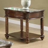 Homelegance Lockwood Square End Table w/ Marble Top