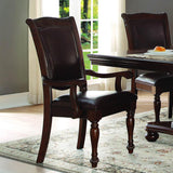 Homelegance Lordsburg Arm Chair in Dark Brown Faux Leather