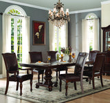 Homelegance Lordsburg Double Pedestal Dining Table in Dark Brown