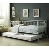Homelegance Lorena Metal Daybed w/Trundle in White