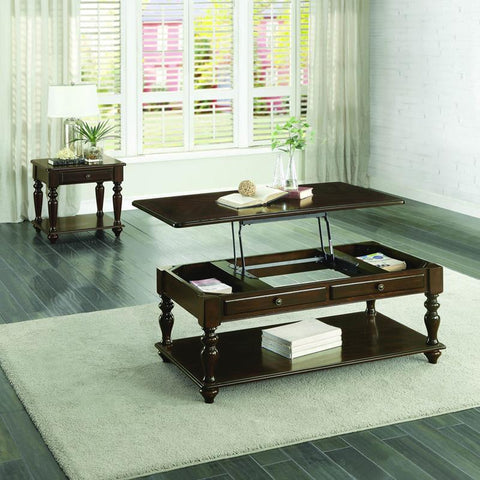 Homelegance Lovington 2 Piece Coffee Table Set in Espresso