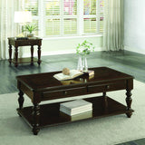 Homelegance Lovington End Table w/Functional Drawer in Espresso