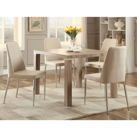 Homelegance Luzerne Dining Table In Washed Weathered Wood