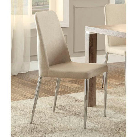 Homelegance Luzerne Side Chair In Neutral Tone Brown Fabric