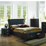 Homelegance Lyric 2 Piece Sleigh Platform Bedroom Set in Brownish Grey