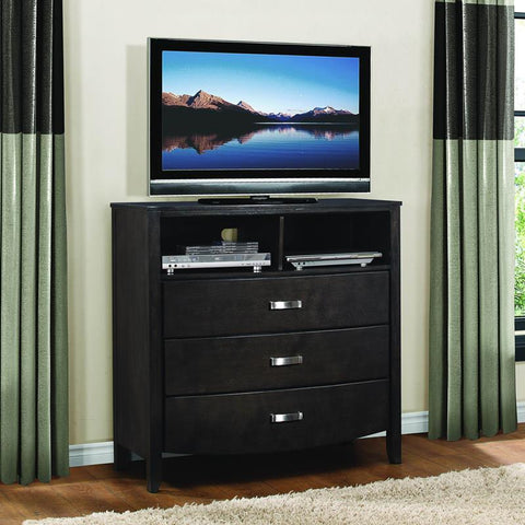 Homelegance Lyric 3 Drawer TV Chest in Brownish Grey