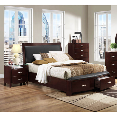 Homelegance Lyric 3 Piece Platform Bedroom Set in Dark Espresso