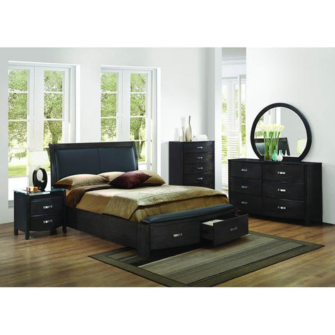 Homelegance Lyric 4 Piece Sleigh Platform Bedroom Set in Brownish Grey