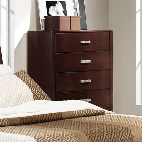 Homelegance Lyric 5 Drawer Chest in Dark Espresso