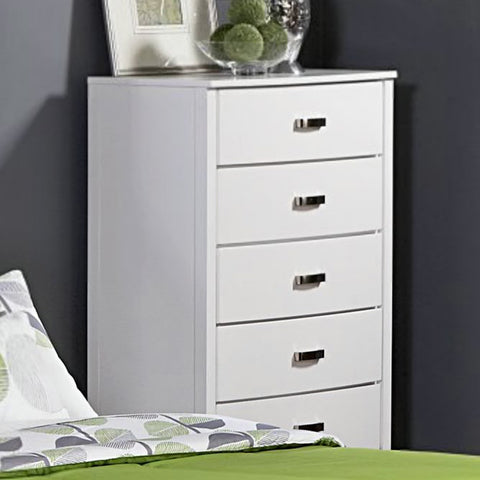 Homelegance Lyric 5 Drawer Chest in White
