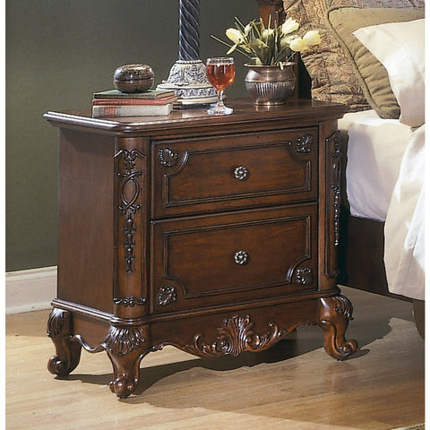 Homelegance Madaleine 28 Inch Nightstand in Cherry