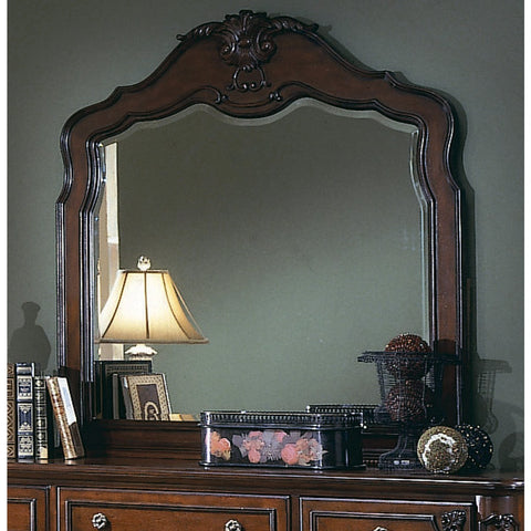 Homelegance Madaleine Arched Mirror in Cherry