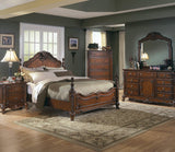Homelegance Madaleine Panel Bed in Cherry