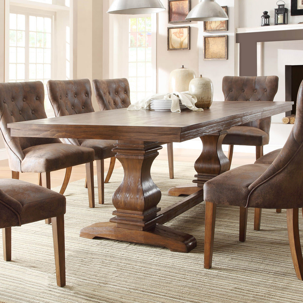 Homelegance Marie Louise Double Pedestal Dining Table In