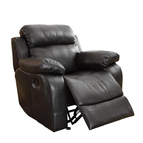 Homelegance Marille Rocking Reclining Chair in Black Leather