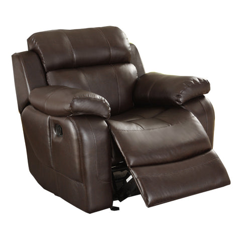 Homelegance Marille Rocking Reclining Chair in Brown Leather
