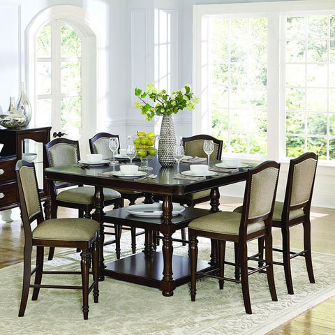 Homelegance Marston 7 Piece Counter Height Table Set in Espresso