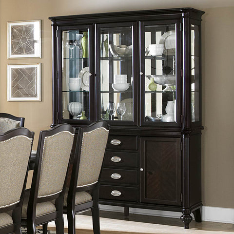 Homelegance Marston Buffet & Hutch in Dark Espresso