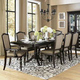 Homelegance Marston Double Pedestal Dining Table in Dark Espresso