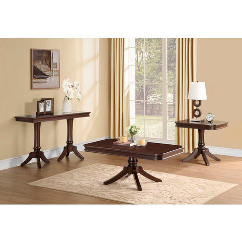 Homelegance Marston Rectangular Cocktail Table In Dark Cherry