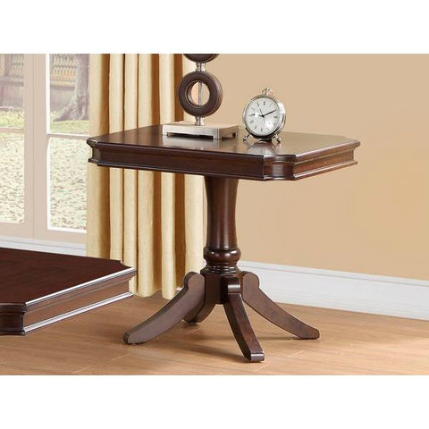 Homelegance Marston Rectangular End Table In Dark Cherry