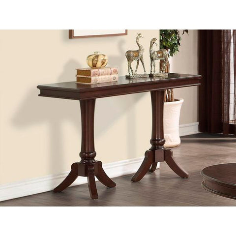 Homelegance Marston Rectangular Sofa Table In Dark Cherry