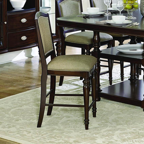 Homelegance Marston Upholstered Counter Height Chair in Espresso