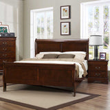 Homelegance Mayville 2 Drawer Nightstand in Brown Cherry