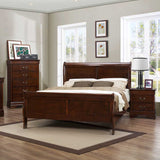 Homelegance Mayville 2 Piece Sleigh Bedroom Set in Brown Cherry