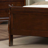 Homelegance Mayville 3 Piece Sleigh Bedroom Set in Brown Cherry